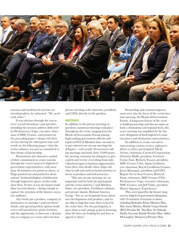 Page 23 of Partnership and Improvement Take Center Stage at the FCCA Cruise Conference & Trade Show