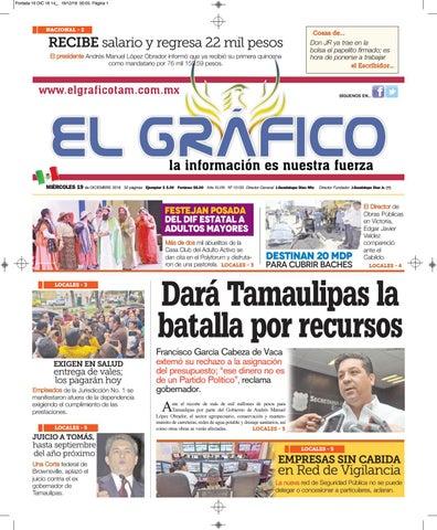 Edición 19 de Diciembre 2018 by El Gráfico - issuu 9a179f48255