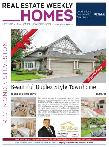 RICHMOND Dec 20, 2018 - Jan 3, 2019 Real Estate Weekly by Real