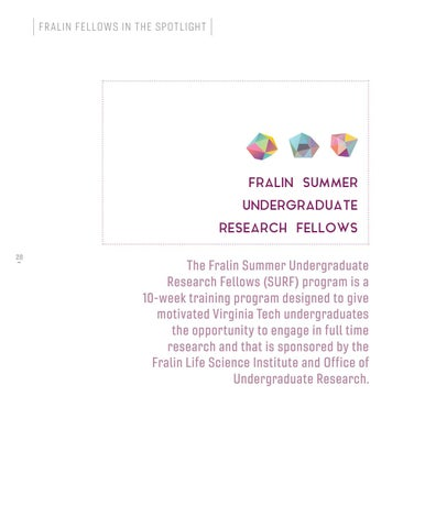 Page 28 of Fralin Summer Undergraduate Research Fellows