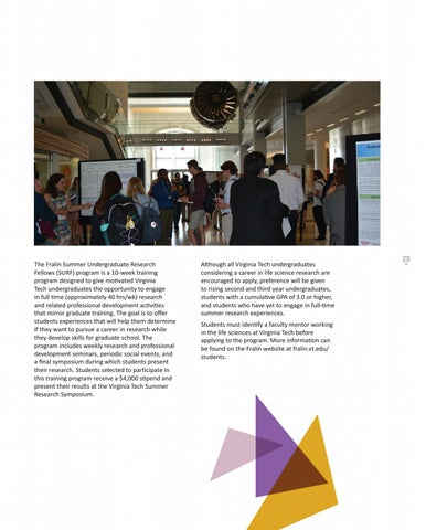 Page 29 of Fralin Summer Undergraduate Research Fellows