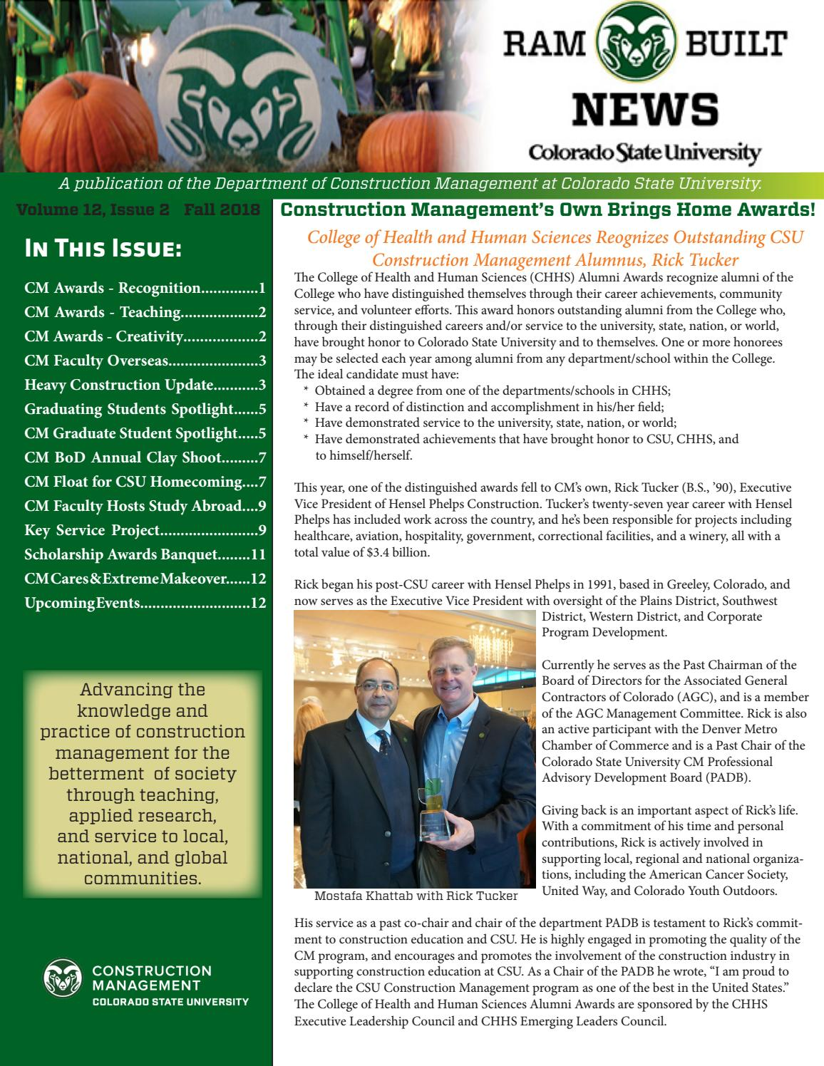 CM 2018 Fall Highlights by CSU Construction Management - issuu
