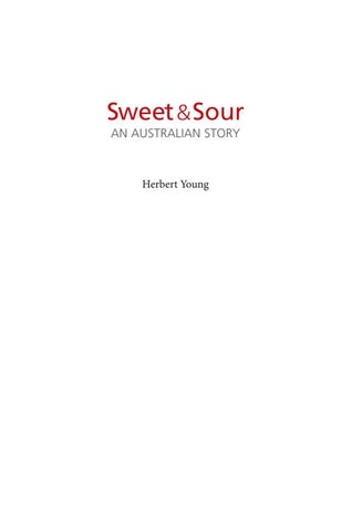 f5396790822 Sweet   Sour   An Australian Story by Herb Young by NorthwoodPress ...