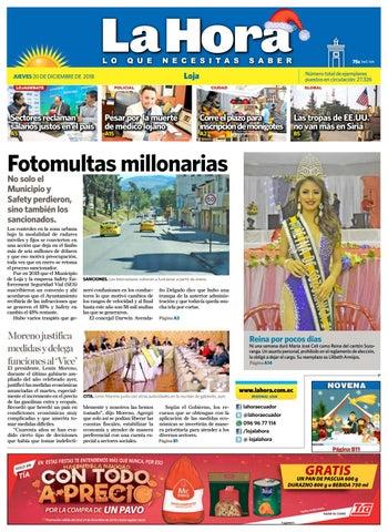 5cb4d815f87f9 Diario La Hora Loja 20 de Diciembre 2018 by Diario La Hora Ecuador ...