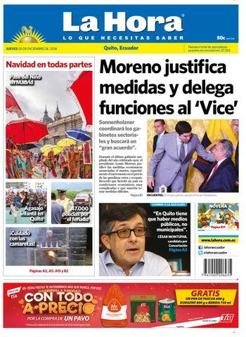 ce40dbcaf0e62 Quito 20 de diciembre de 2018 by Diario La Hora Ecuador - issuu