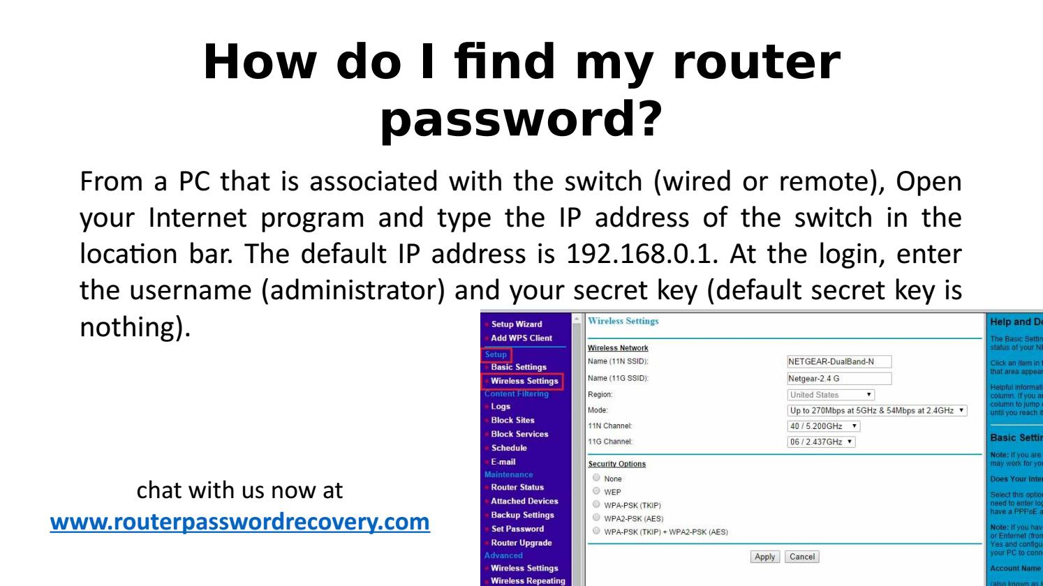 How do I recover my Netgear router password? by rpr85711 - issuu