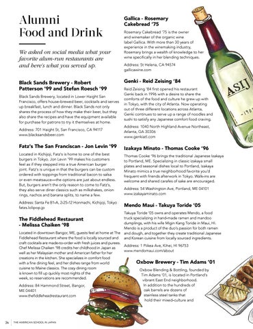 Page 28 of Alumni Food and Drink