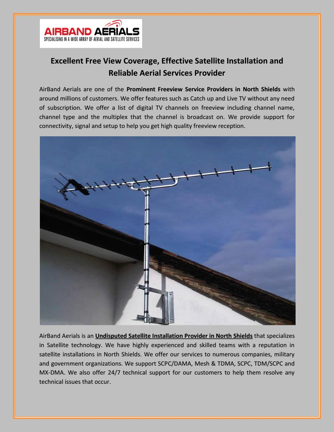 Excellent Free View Coverage, Effective Satellite