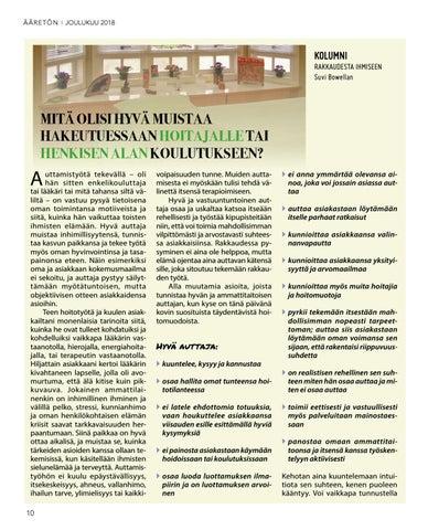 Page 10 of Mitä olisi hyvä muistaa hakeutuessaan hoitajalle tai henkisen alan koulutukseen?