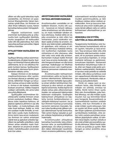 Page 13 of Itsekkyyden kolme asetta:  häpeä, syyllisyys ja arvottomuus