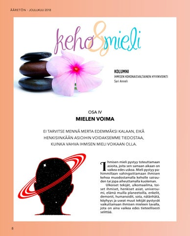 Page 8 of Keho & Mieli: Ihmisen kokonaisvaltainen hyvinvointi