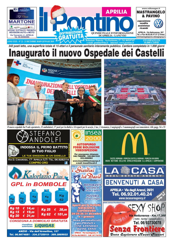 IL PONTINO APRILIA - Anno XXIX - 21 Dicembre 2018 9 Gennaio 2019 by Il  Pontino Il Litorale - issuu 9db674219e6f