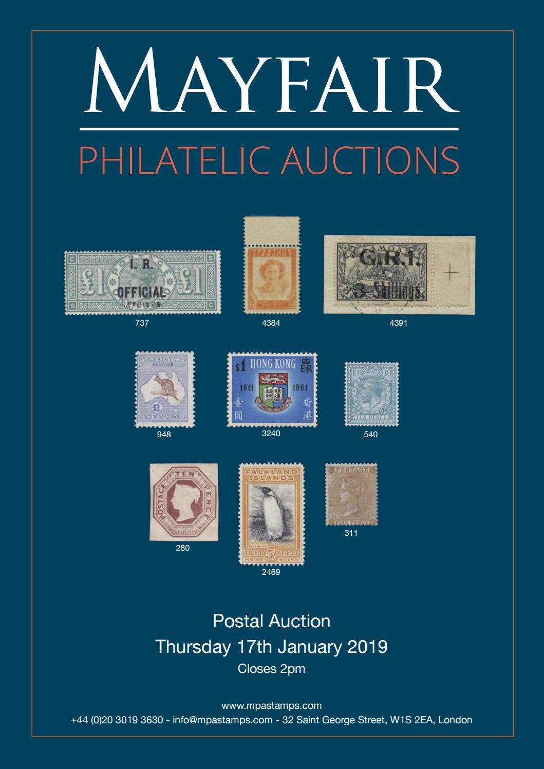 8d802abd8b9 Mayfair Philatelic Postal Auction by Mayfair Philatelic Auctions - issuu