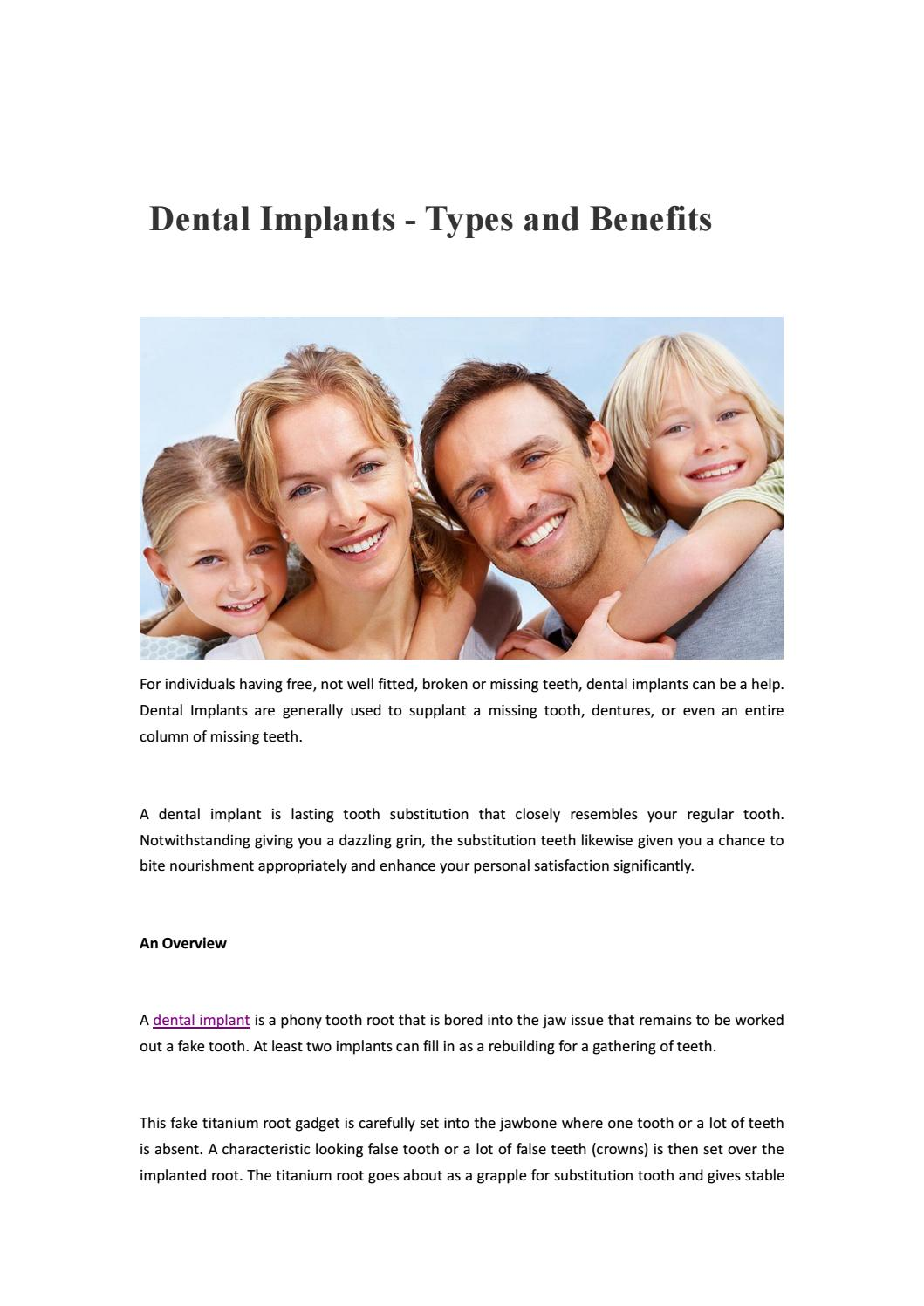 Dental Implant by implantdentalmelbourneau - issuu