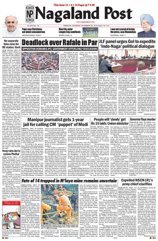December 20, 2018 by Nagaland Post - issuu