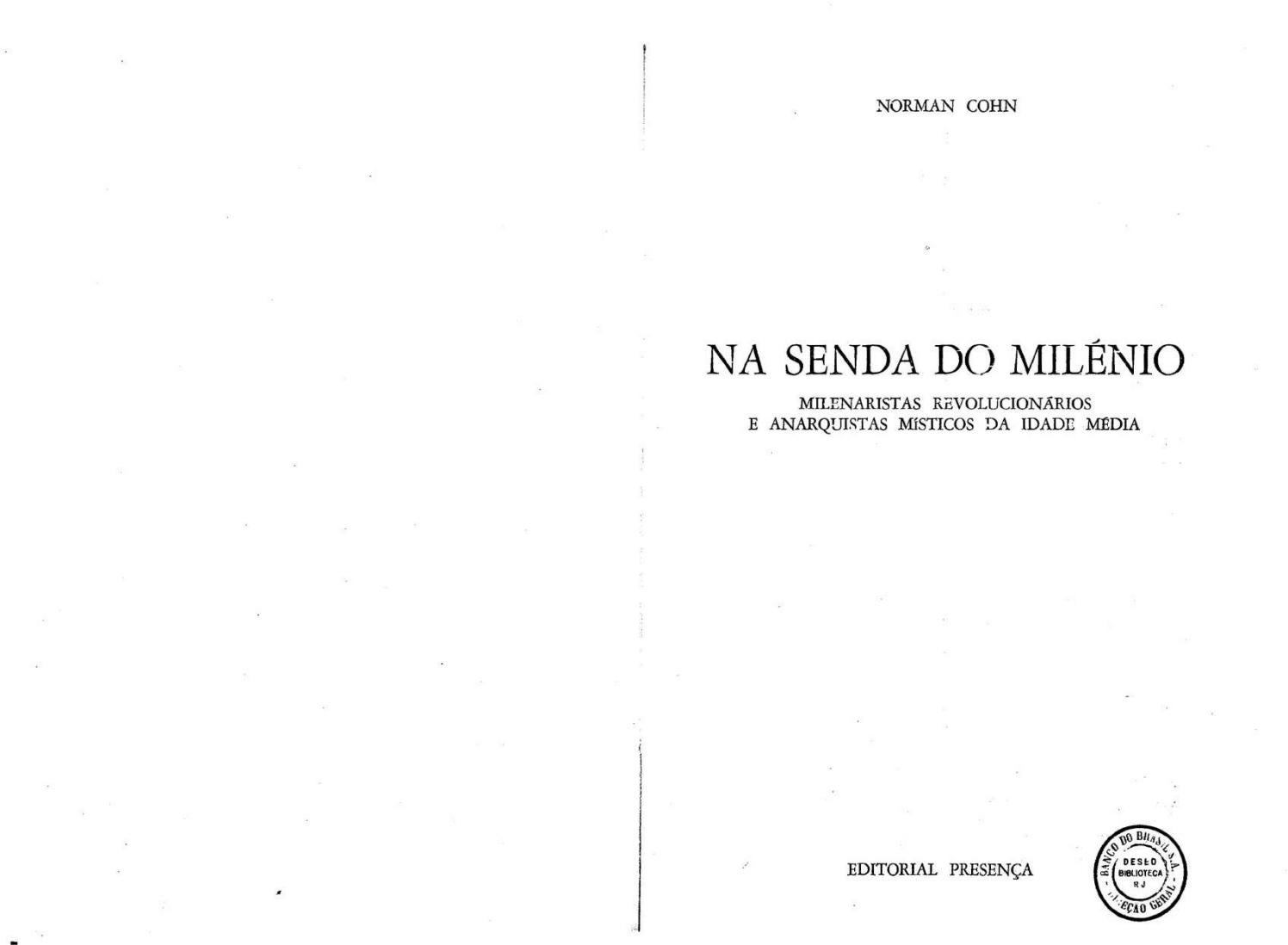Norman Cohn Na Senda Do Milenio By Carlos Duarte Issuu