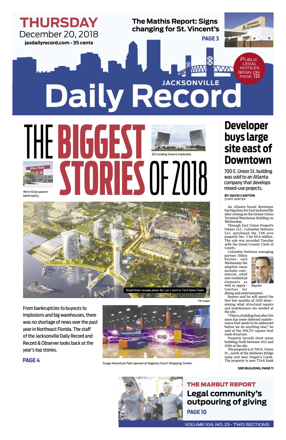 Jacksonville Daily Record 12/20/18 by Daily Record