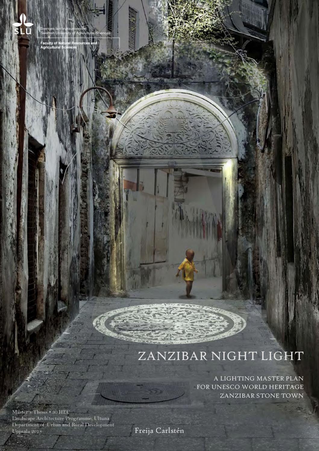 Master Thesis - Zanzibar Night Light by Caprifolium - issuu