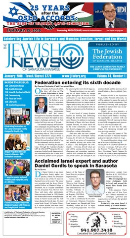 The Jewish News January 2019 By The Jewish Federation Of Sarasota