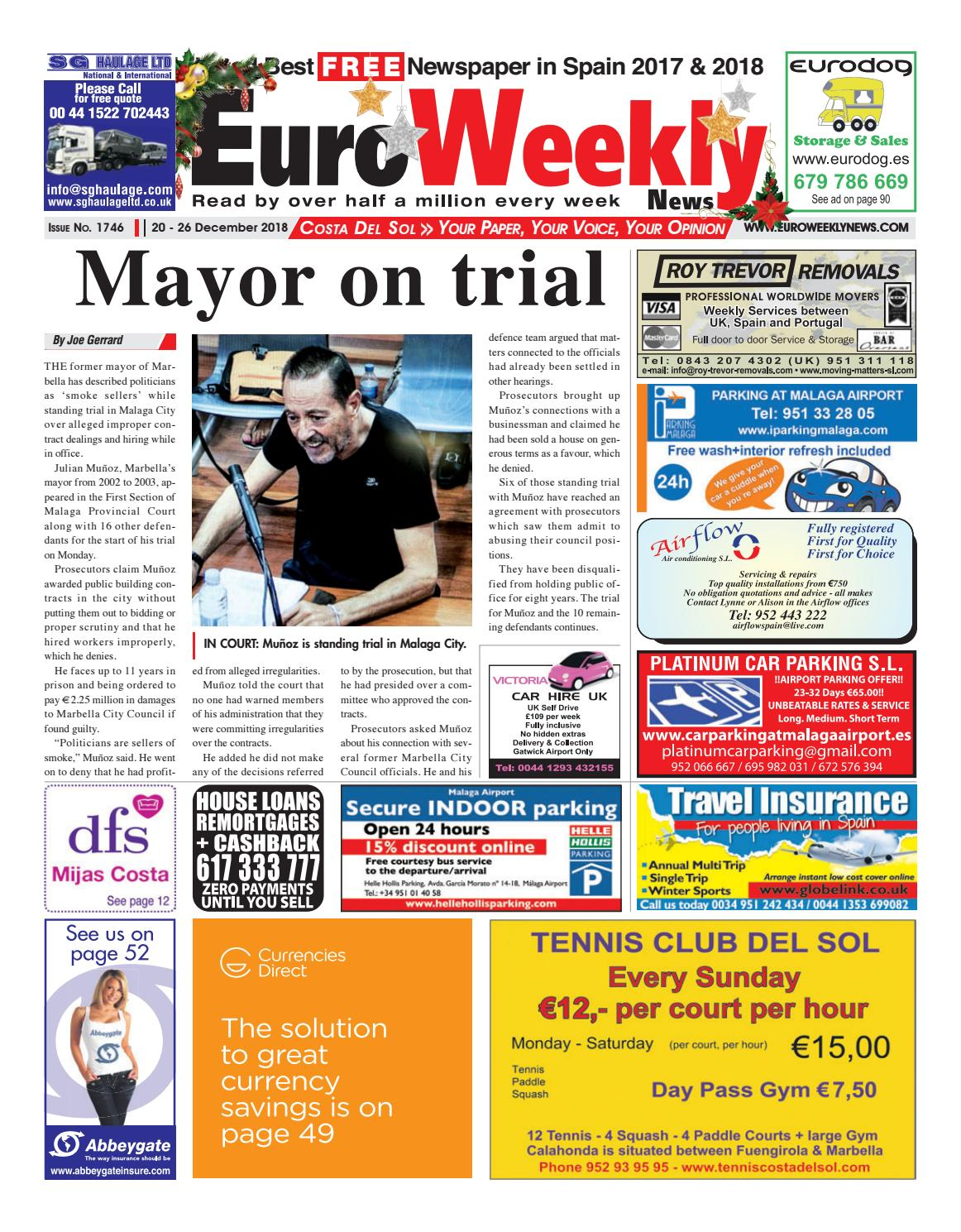 9746985b22f Euro Weekly News - Costa del Sol 20-26 December 2018 Issue 1746 by Euro  Weekly News Media S.A. - issuu