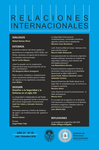 Nro 55 Volumen 27 By Instituto De Relaciones Internacionales Unlp