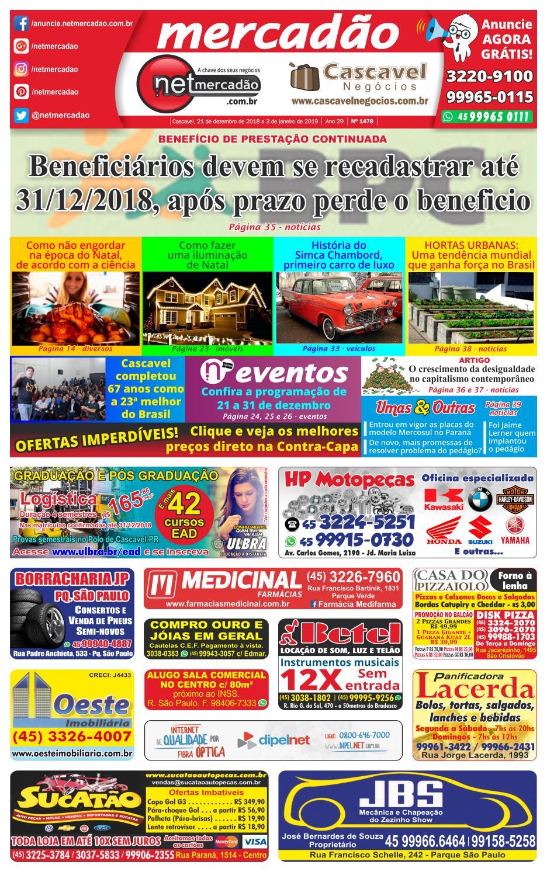 a199a79dd Jornal Mercadão Online Grátis - 21 de dezembro de 2018 a 3 de Janeiro de  2019 by netmercadao - issuu