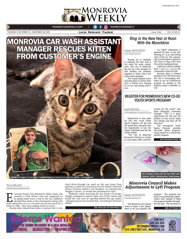 3271c0d8b65f8 Monrovia Weekly - 12 20 2018 by Beacon Media