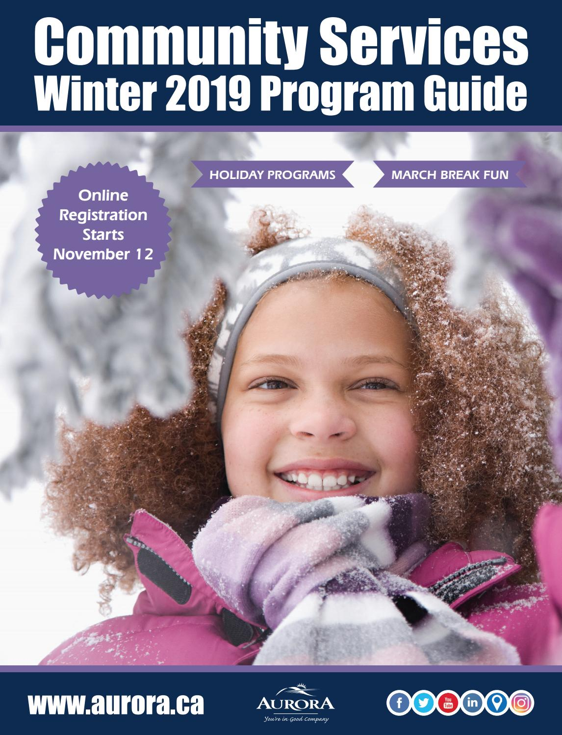 community services winter 2019 program guide by town of. Black Bedroom Furniture Sets. Home Design Ideas