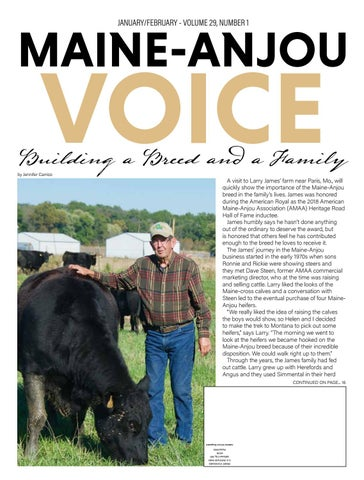 Maine Anjou Voice January / February Issue 2019 by EDJE - issuu
