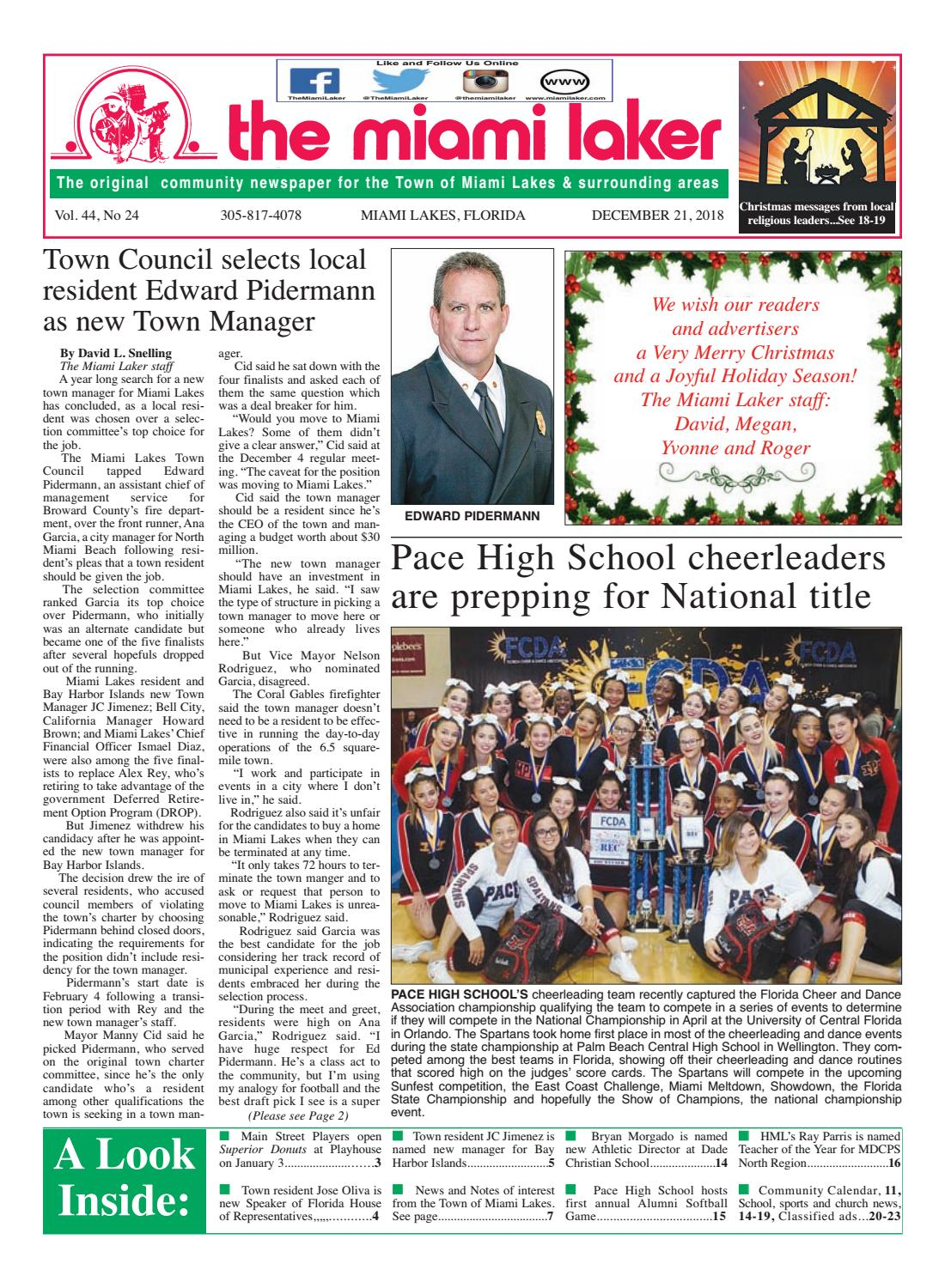 The Miami Laker, December 21, 2018 by MiamiLaker - issuu