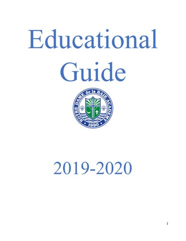 Educational Guide 2019 2020 By Notre Dame De La Baie Academy