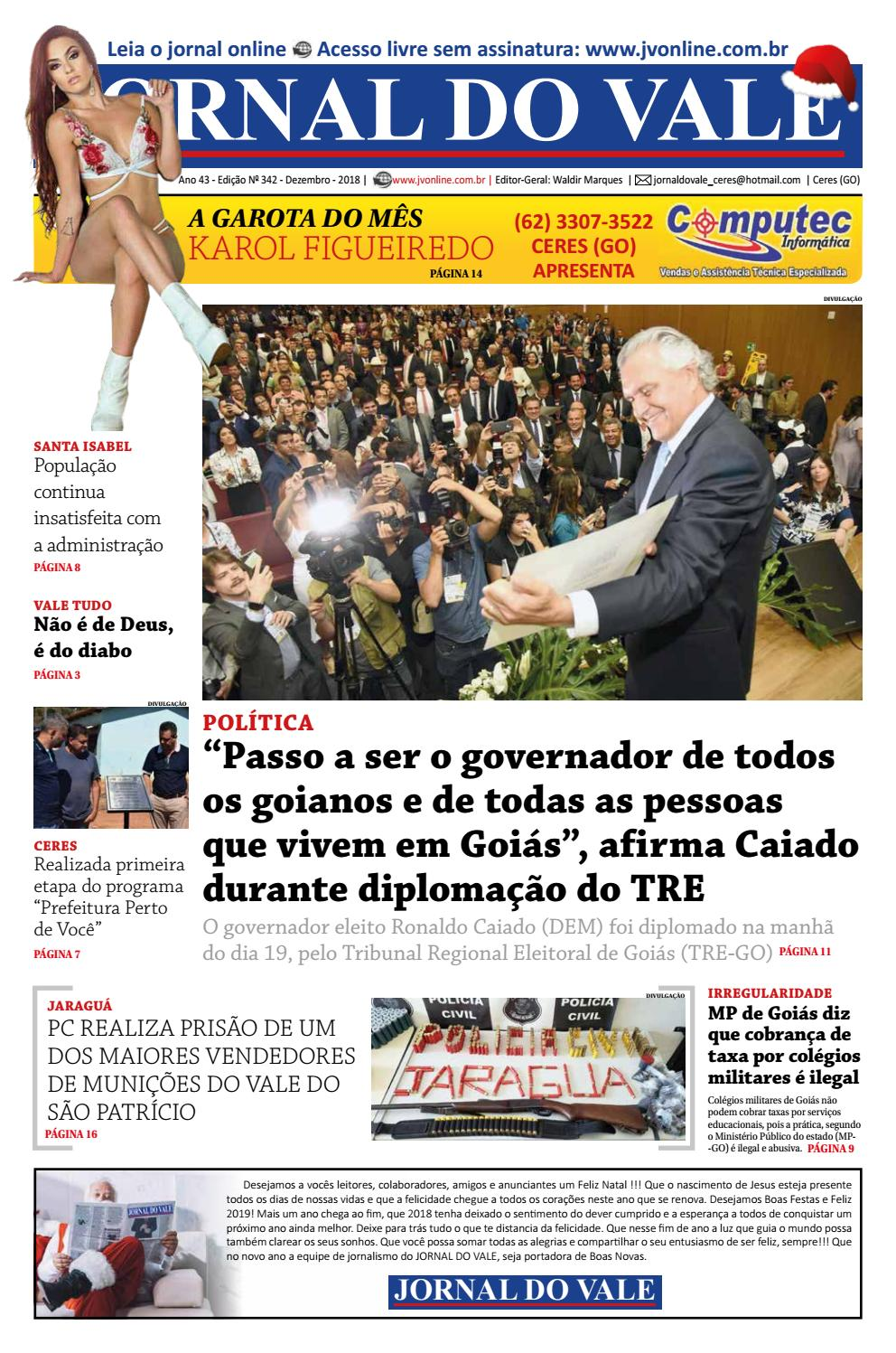 642dc700c Jornal do Vale - Edição 342 - Dezembro 2018 by jornal do vale - issuu