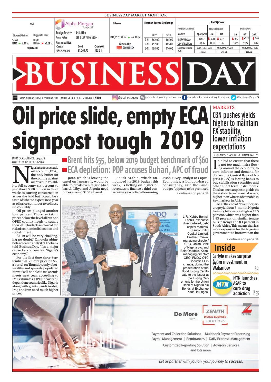 Hyping Paulsons Big Regulatory Reform >> Businessday 21 Dec 2018 By Businessday Issuu