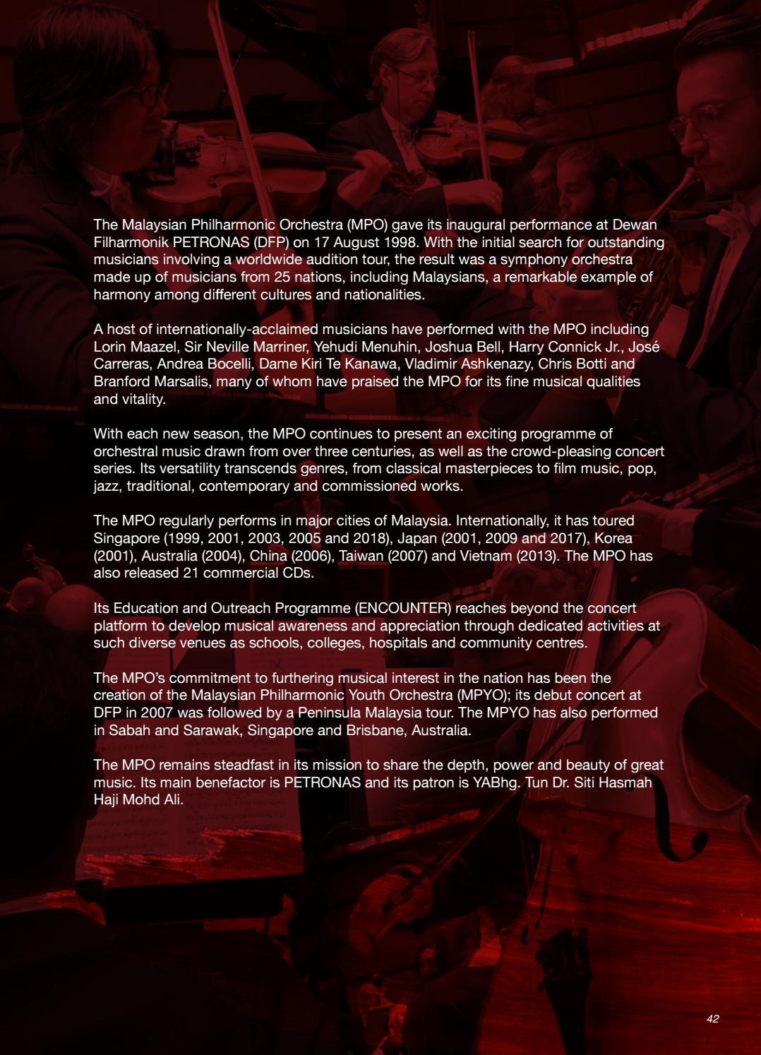 MPO 2019 SEASON BROCHURE by Malaysian Philharmonic Orchestra - issuu