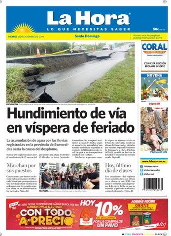 Santo Domingo 21 De Diciembre De 2018 By Diario La Hora Ecuador Issuu
