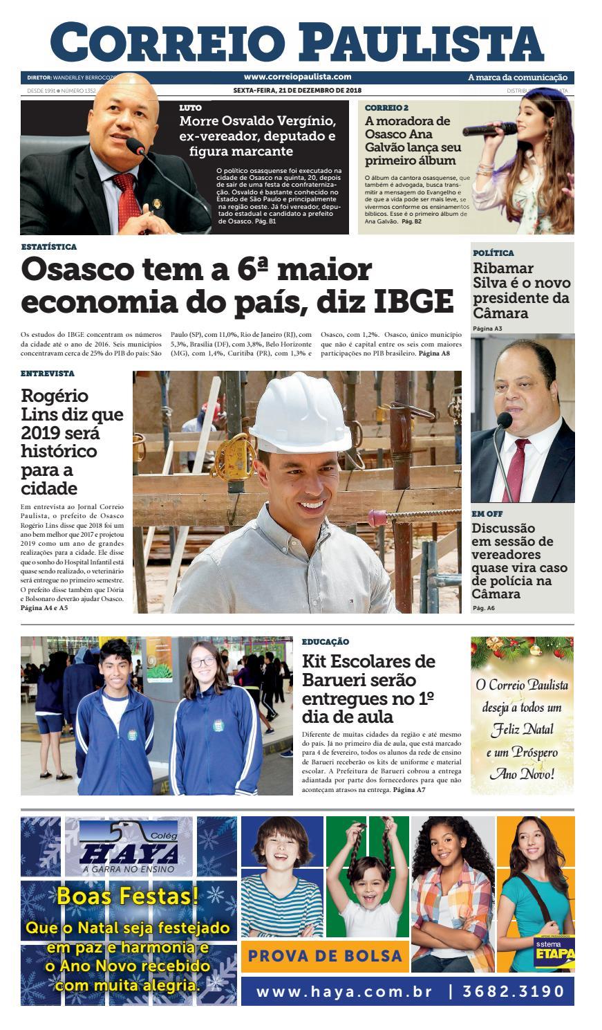 jornal Correio Paulista 1352 by Jornal Correio Paulista - issuu 5450f9cc92871