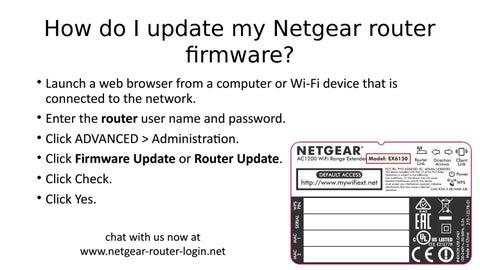 How do I update my Netgear router firmware? by Netgear Router Login