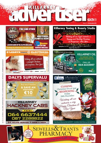 Killarney Advertiser December 21st 2018 by Killarney