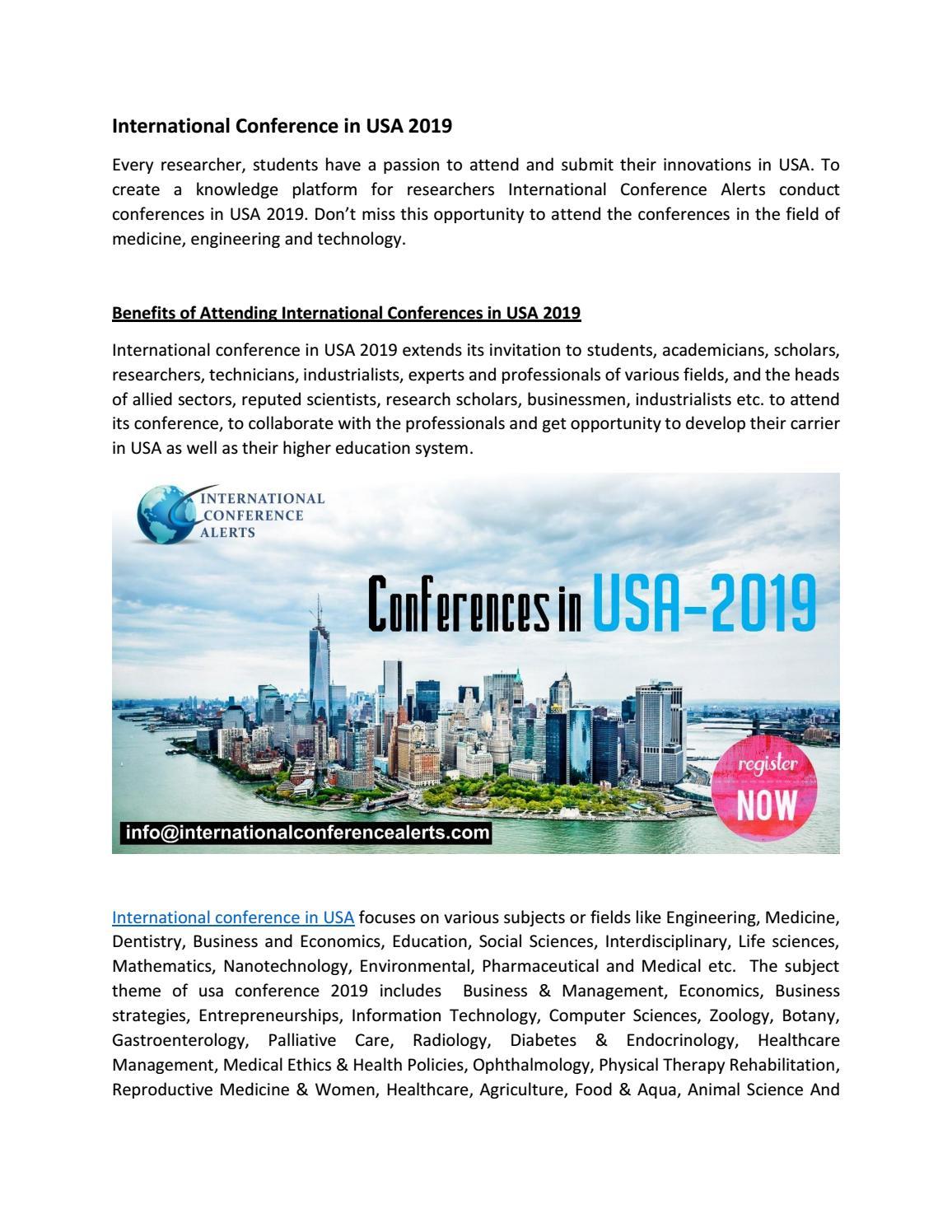 International Conference in USA by Joel Matthew - issuu