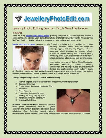 Jewelry Photo Editing Service - Fetch New Life to Your