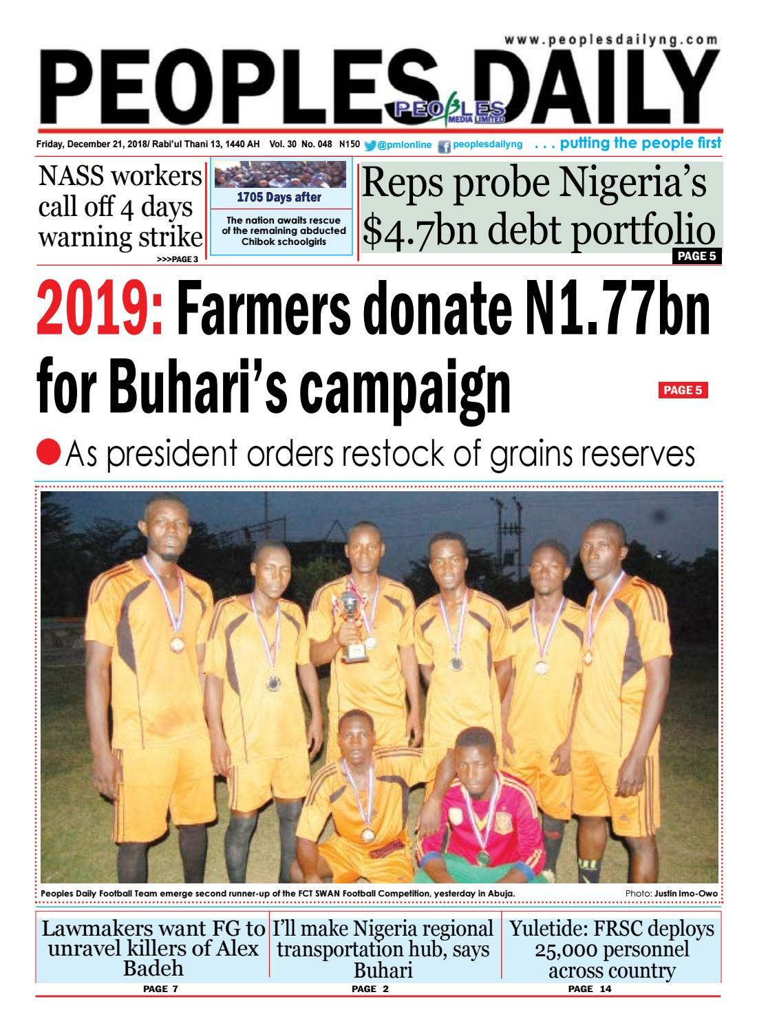 Friday, December 21, 2018 by Peoples Media Limited - issuu