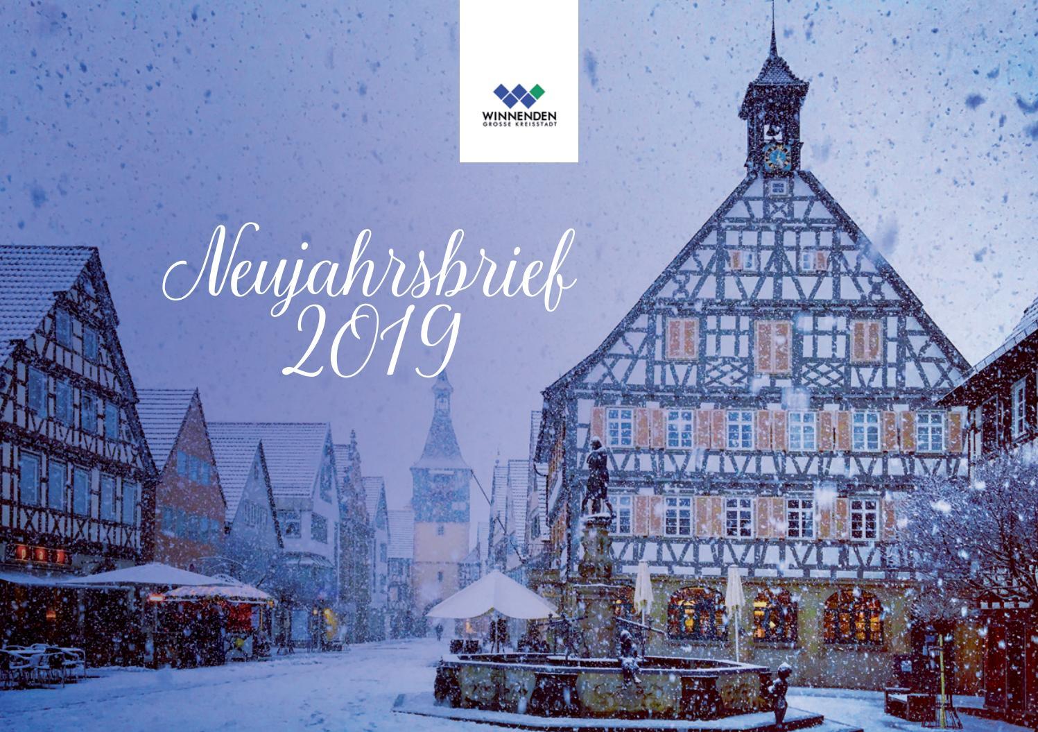 Weihnachtsmarkt Winnenden.Stadt Winnenden Neujahrsbrief 2019 By Konzerttagewinnenden Issuu