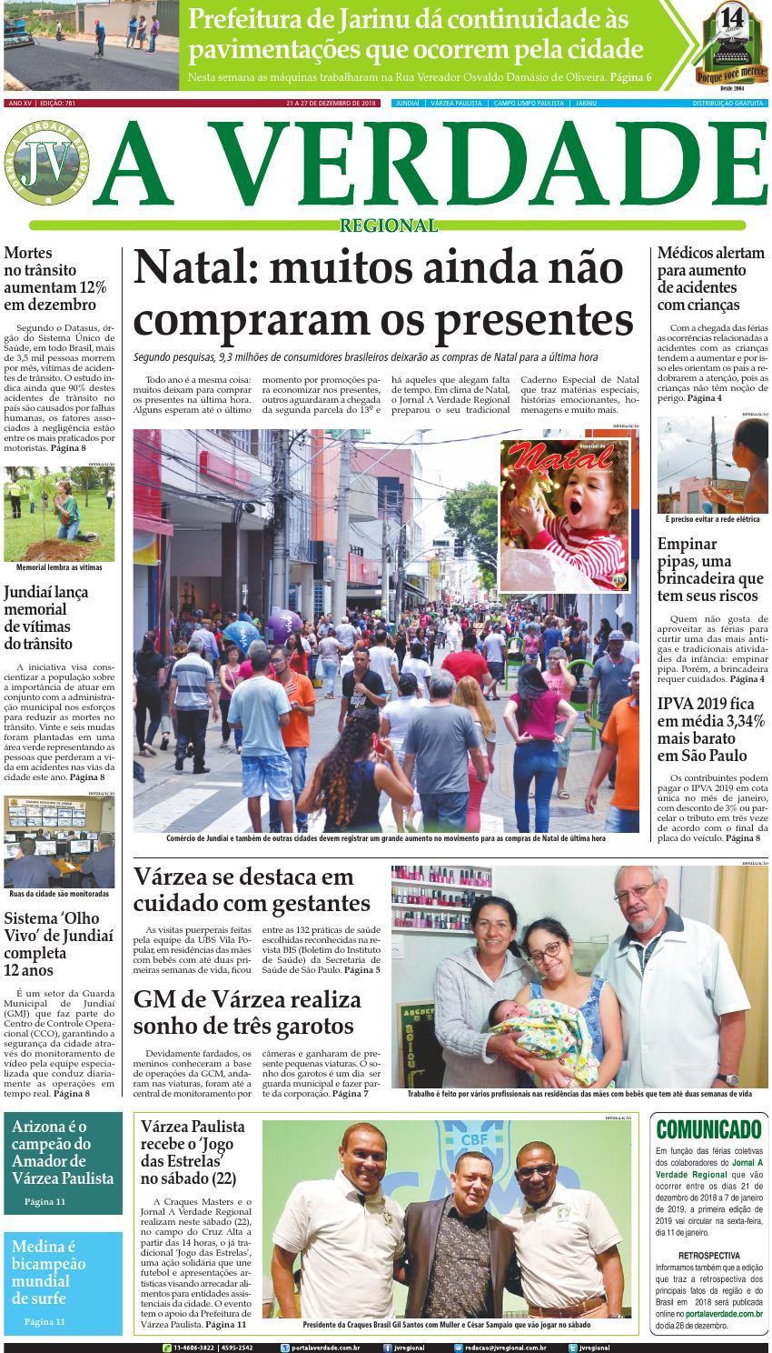 JV Regional ® - Edição 761 by Jornal A Verdade Regional - issuu 5d8223732318b