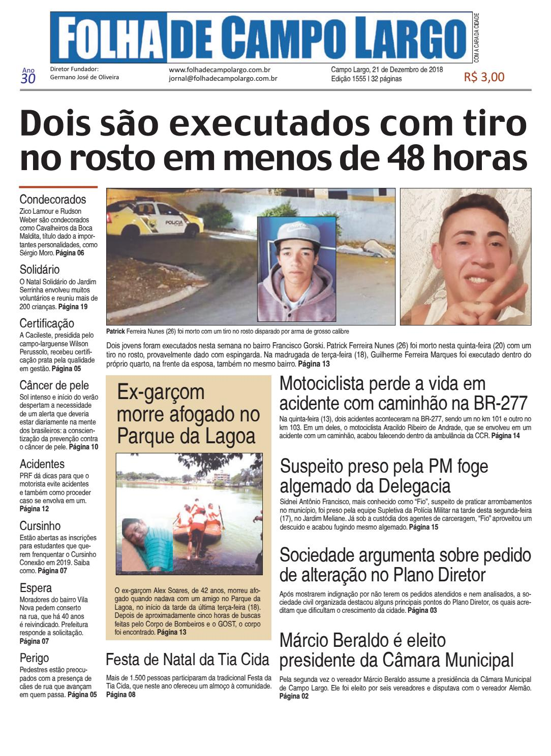 Folha de Campo Largo by Folha de Campo Largo - issuu fb0080a9681bd