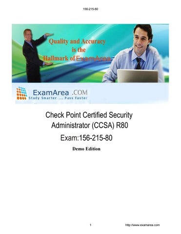 Demo for 156-215-80 - Check Point Certified Security