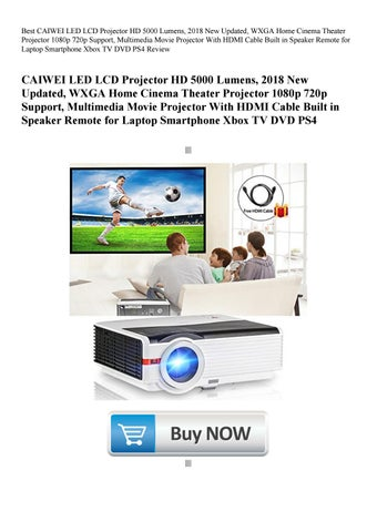 Best CAIWEI LED LCD Projector HD 5000 Lumens 2018 New Updated WXGA