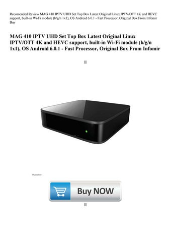 Recomended Review MAG 410 IPTV UHD Set Top Box Latest Original Linux