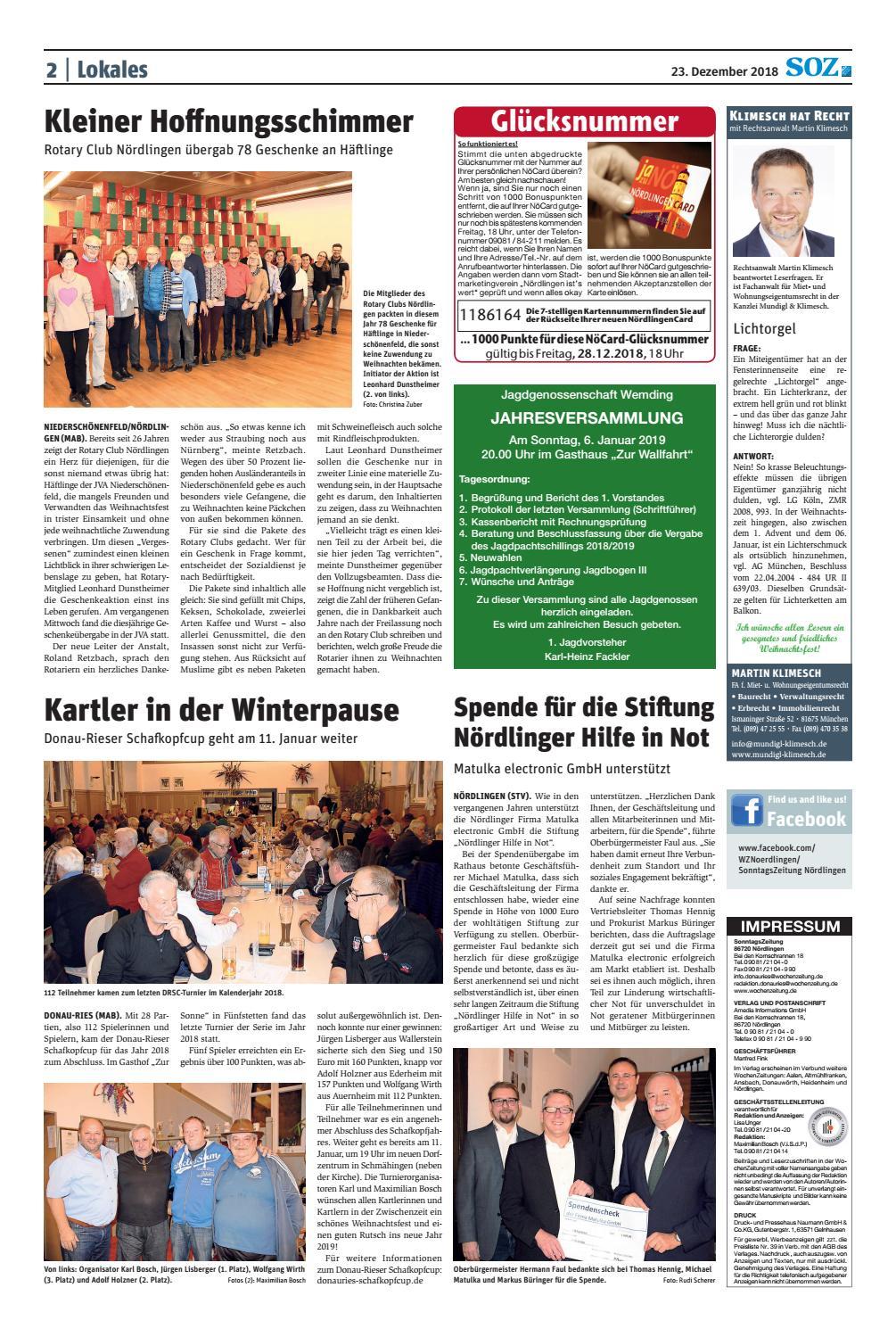 Media Markt Club Kartennummer Finden.Sonntagszeitung Nördlingen Kw 51 18 By Wochenzeitung