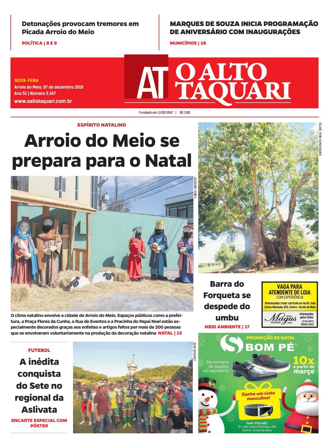 4569812a71ff9 Jornal O Alto Taquari - 07 de dezembro de 2018 by Jornal O Alto Taquari -  issuu