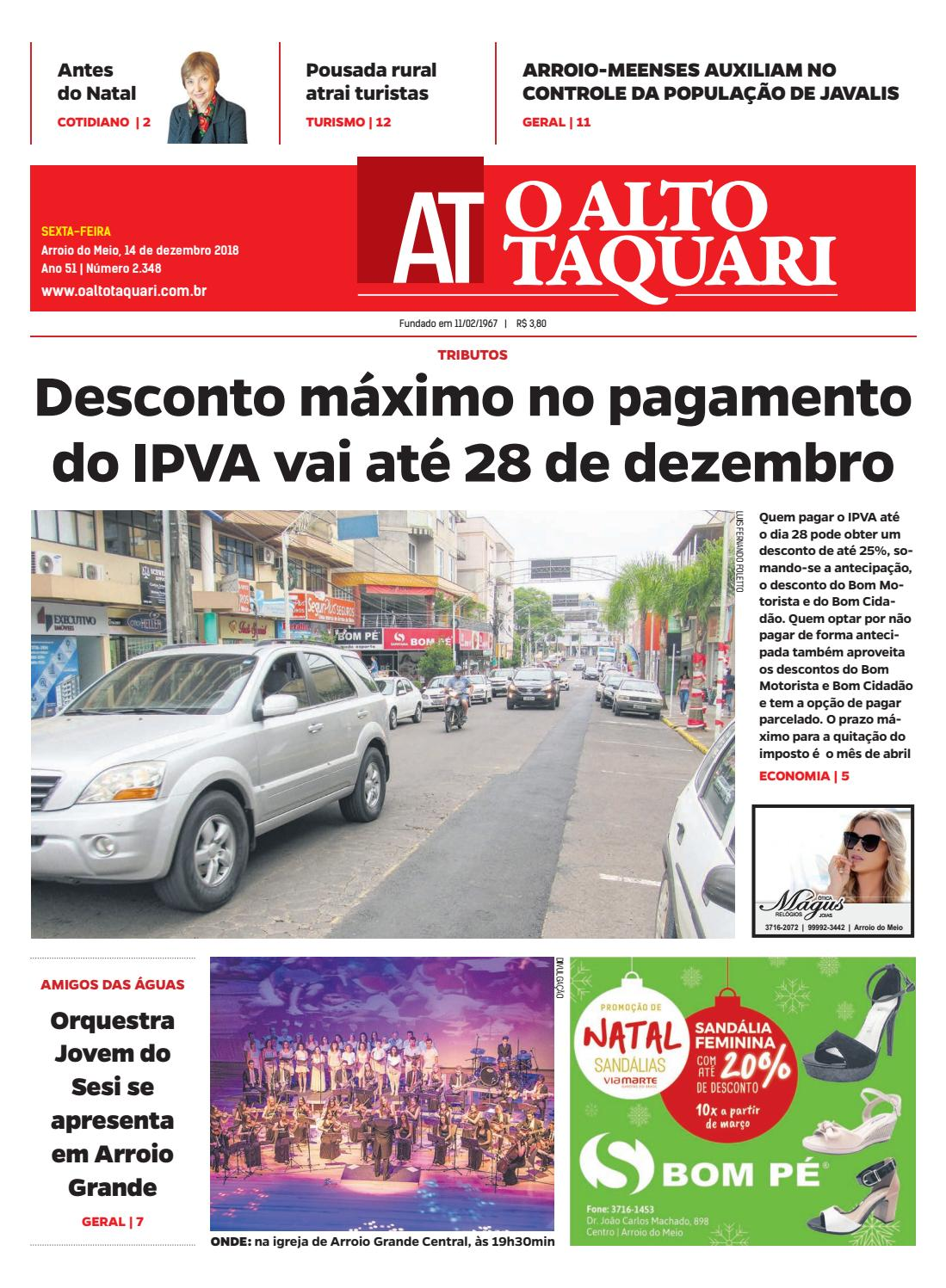 Jornal O Alto Taquari - 14 de dezembro de 2018 by Jornal O Alto Taquari -  issuu 1f595c55da